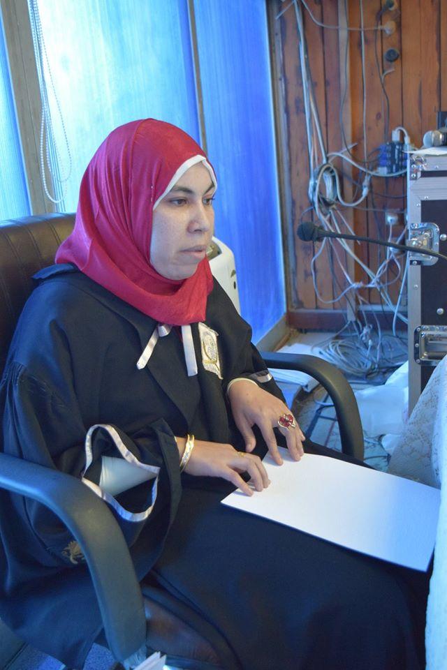 أول باحثة كفيفة مصرية تناقش رسالة ماجستير عن التنمية البشرية في ضوء القرآن