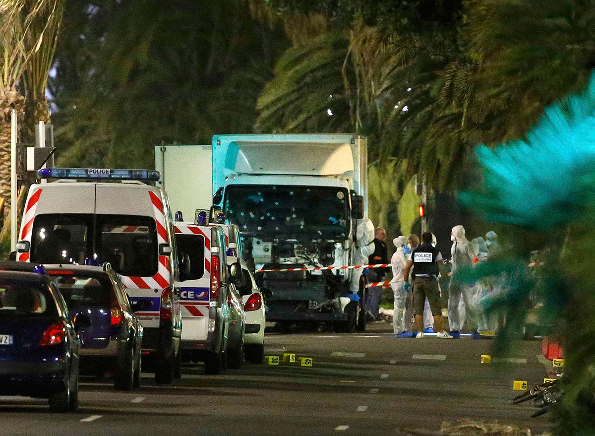 Nice lorry attack Scenes of carnage in French city