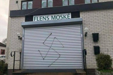 Mosque in Sweden Vandalized with Swastika Painting