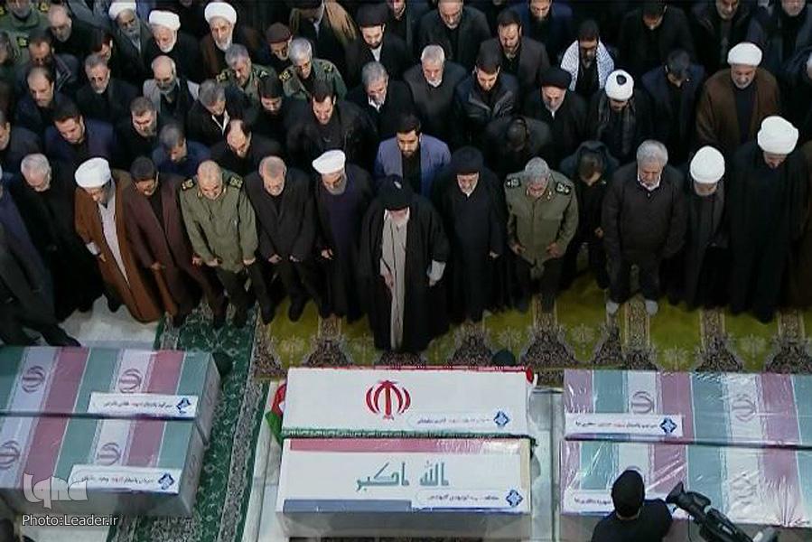 Ayatollah Khamenei Leads Salat al-Mayyit for Martyr Soleimani