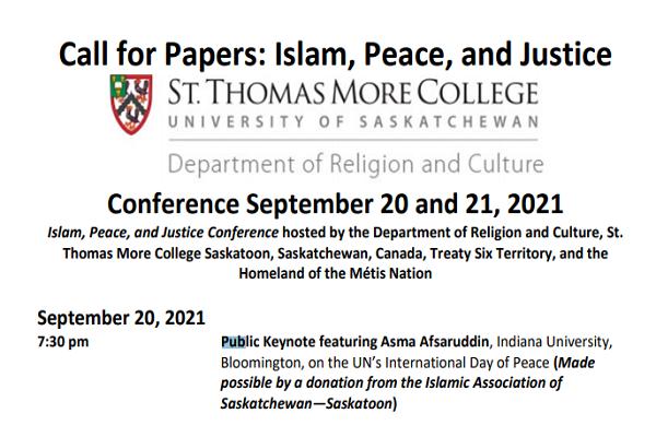 Canadá – Conferencia para discutir «Islam, paz y justicia»