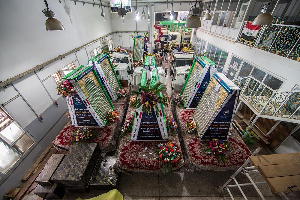 نخستین تصاویر از مراسم رونمایی ضریح جدید بابالحوائج(ع)