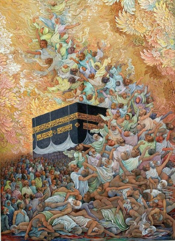 اثر هنری رضا بدرالسما با موضوع حادثه منا