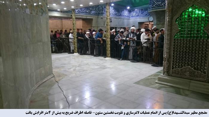 رونمائی از گنبد جدید امام حسین(ع) تا یکسال آینده + تصاویر