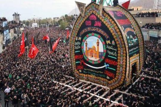 «نخل گردانی»؛آئین نمادین تشییع پیکر مطهر امام حسین(ع) در روز عاشورا