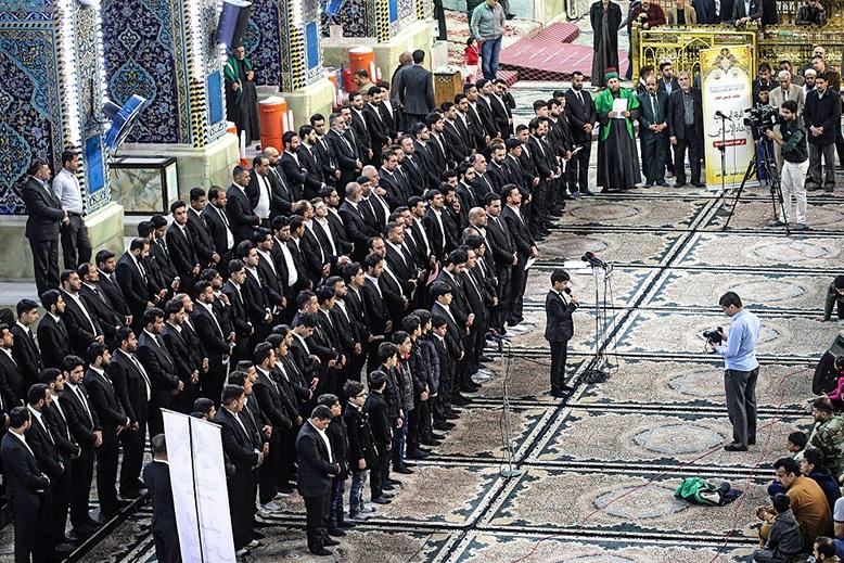آغاز به کار گروه بین المللی سرودهای اسلامی در کربلا(آماده )