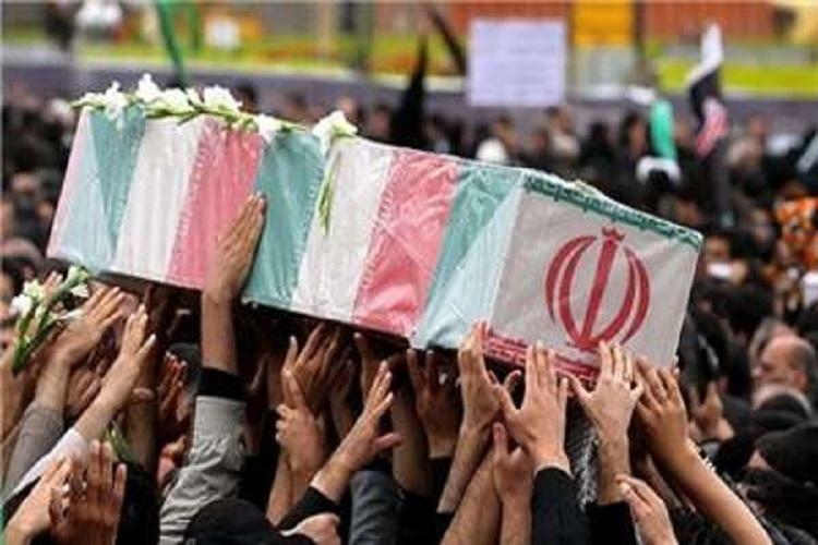 تشییع پیکر شهید منصور خراسانی در رفسنجان