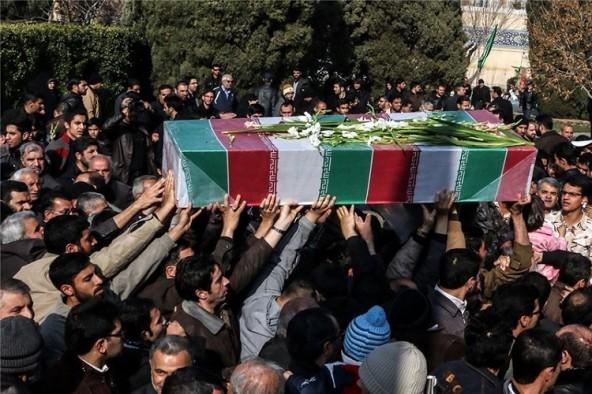 برگزاری مراسم وداع با پیکر شهید گمنام در دهزیار کرمان