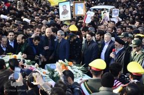 تشییع پیکر 6 شهید گمنام دفاع مقدس در اصفهان