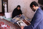 عیادت مادر شهید مصطفایی توسط رئیس و اعضای بسیج رسانه فارس