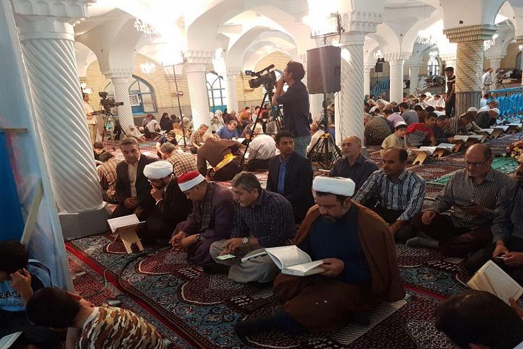 برگزاری محفل انس با قرآن با  حضور قاری مصری در دارالاحسان سنندج + عکس