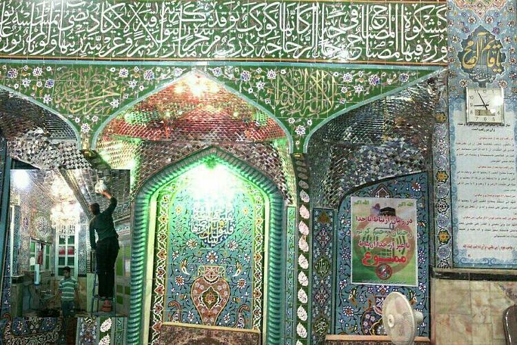تصاویری از غبارروبی مساجد در زابل