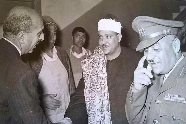 عبدالباسط محمد عبدالصمد در تاریخ 1955/2/20 در هتل فلسطین (نابلس)