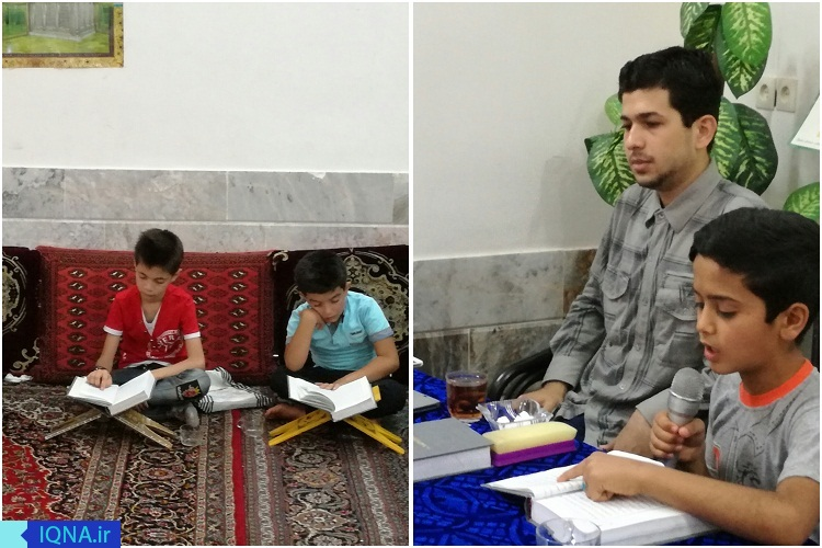 جلسه قرآن قاری جوان کاشمری برای کودکان محروم