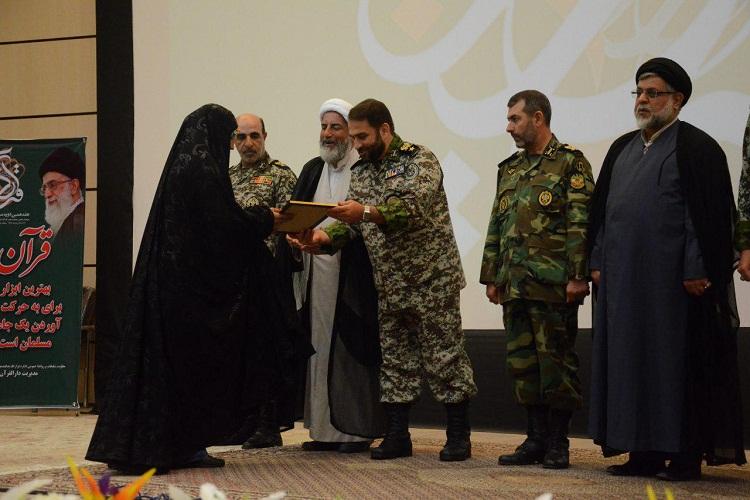 مسابقات سراسری قرآن کریم پدافند هوایی خاتم الانبیا(ص) در تبریز به کار خود پایان داد+تصاویر