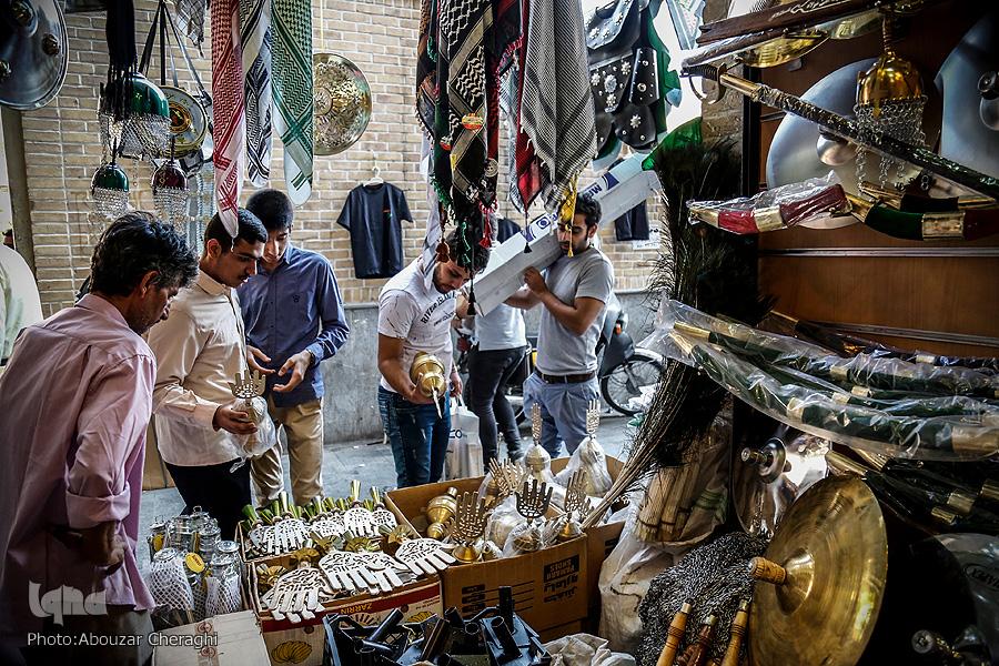 رنگ و بوی محرم در بازار تهران