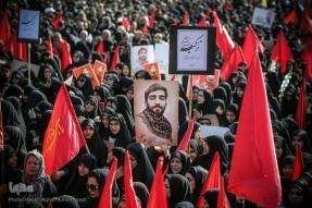 وداع خانواده با شهید حججی در معراج الشهداء