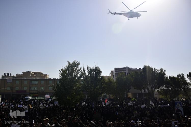 گزارش تصویری ایکنا از مراسم خا پاری شهید حججی در نجف آباد