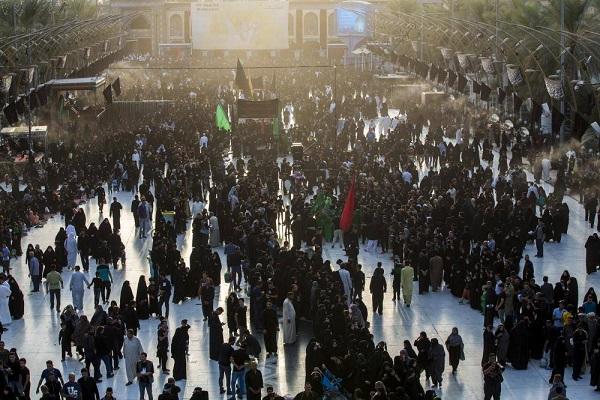 تراکم شدید زائران در وردیهای شهر کربلا + عكس