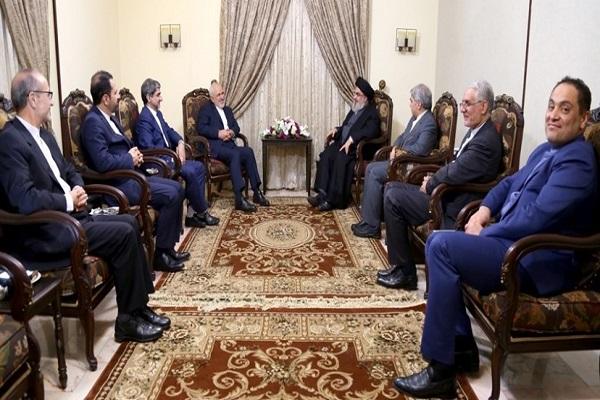 بررسی آخرین تحولات سیاسی منطقه در دیدار ظریف با سیدحسن نصرالله