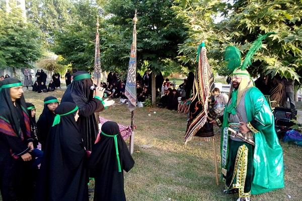 گزارش تصویری اجرای شبیه خوانی حضرت ابوالفضل عباس(ع) در هادی شهر
