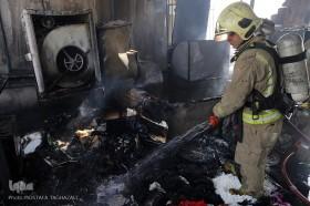 آتش سوزی در ساختمان تولیدی لباس چهار راه ولیعصر