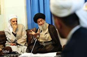 دیدار علمای اهل سنت کردستان با آیات عظام مکارم شیرازی،علوی گرگانی و جوادی آملی