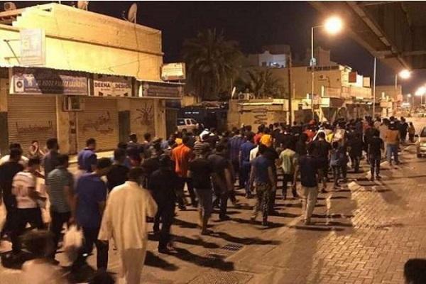 تظاهرات گسترده بحرینیها در نهمین سالگرد قیام مردمی + عکس
