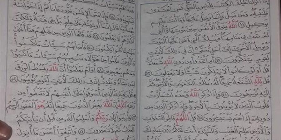 جوان مصری دومین قرآن را هم دستنویسی کرد + عکس