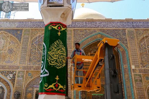 آذین بندی حرم حضرت علی(ع) به مناسبت عید غدیر + عکس