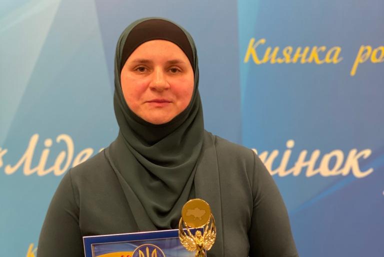 Mujer musulmana nombrada mejor ciudadana del año en Ucrania