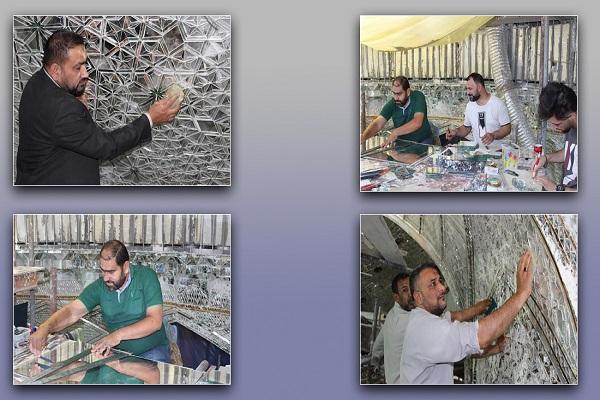 اتمام پروژه آینه كاری گنبد داخلی حرم مطهر امام حسین (علیه السّلام)