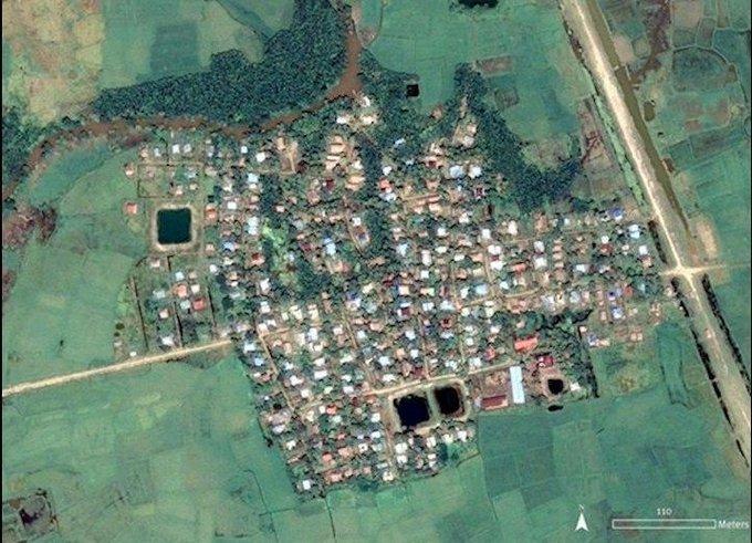 نسل کشی مسلمانان روهینگیا+ تصاویر ماهوارهای