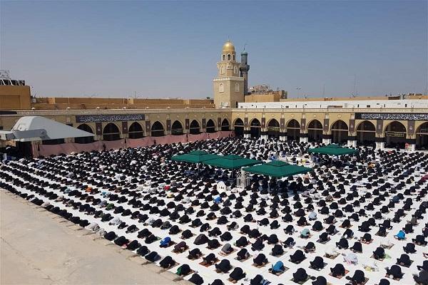 نخستین نماز جمعه در مسجد کوفه پس از چهار ماه + عکس
