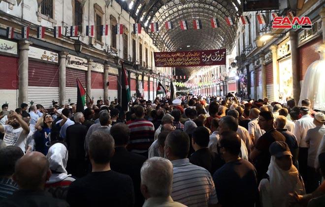 حضور گسترده شهروندان سوری در راهپیمایی روز جهانی قدس