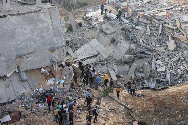 عکس| ویرانیهای ناشی از حملات وحشیانه اسرائیل به غزه