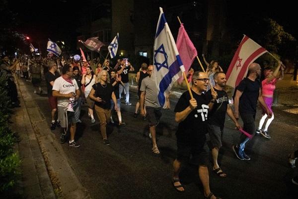 برگزاری تظاهرات برای محاکمه نتانیاهو