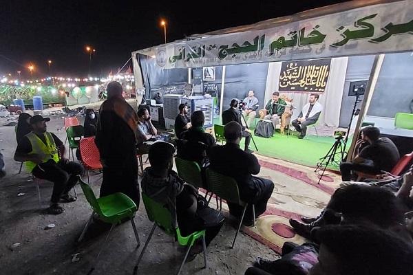 برپایی محافل قرآنی در مسیر پیادهروی نجف به کربلا