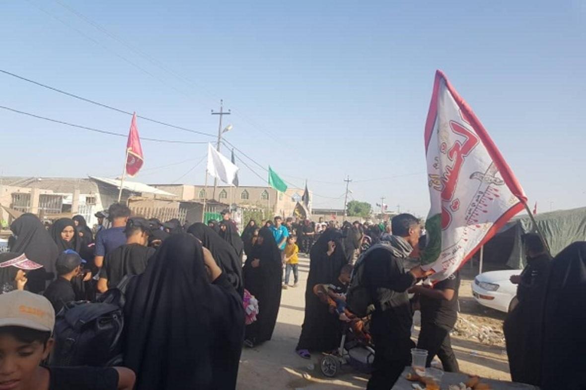 Los peregrinos de Arbaín siguen su travesía hasta Karbalá