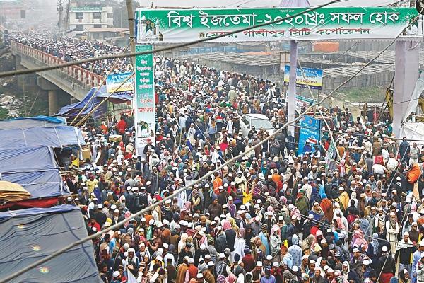 Reunión de paz en la gran comunidad musulmana de Bangladesh